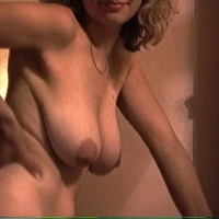Large tits of a neighbor - cheeky