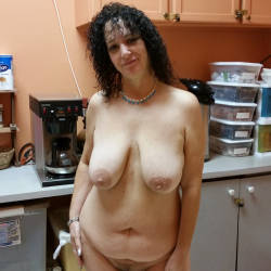 Very large tits of a co-worker - Lori