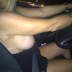 Driving  - Big Tits