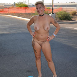 Shelby NIP - High Heels Amateurs, Big Tits, Public Exhibitionist, Public Place, Tattoos