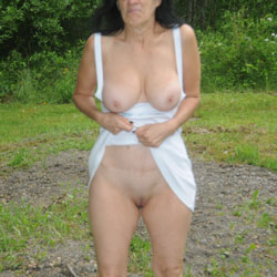 The First Great Day Of 2016 - Big Tits, Outdoors