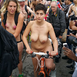 Nude Bike Race - Big Tits, Flashing Tits, Flashing, Nude In Public, Nude Outdoors, Showing Tits, Sexy Girl, Sexy Legs , Bike, Nude, Race, Tits, Legs