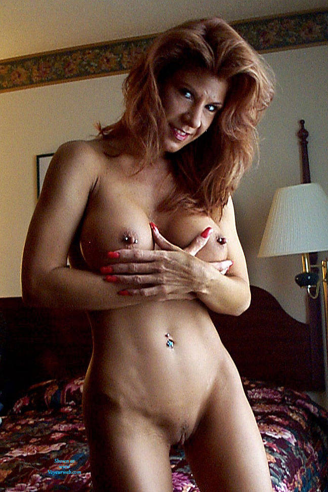 Nude female button nipples