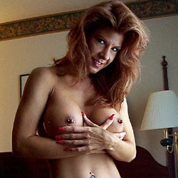 Redhead Showing Pierced Nipples And Belly Hole - Big Tits, Full Nude, Navel Piercing, Nipples, Perfect Tits, Pierced Nipples, Pussy Lips, Redhead, Shaved Pussy, Hairless Pussy, Naked Girl, Sexy Body, Sexy Girl, Sexy Legs