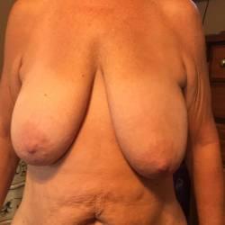 Large tits of my wife - wild grandma