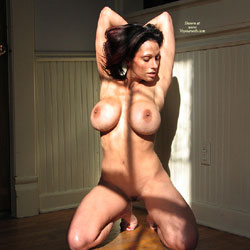 Sunshine Window Light - Big Tits, Brunette