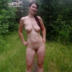 Forest - Brunette, Big Tits, Nature