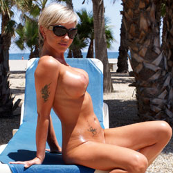 Beach - Blonde, Big Tits, Beach, Tattoos