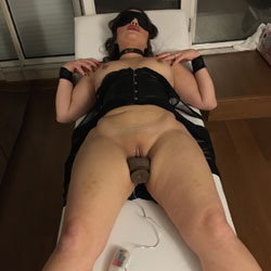 Blindfolded Nude Wife Masturbating - Big Tits, Heels, Indoors, Masturbation, Nipples, Shaved Pussy, Hairless Pussy, Sexy Body, Sexy Legs, Toys, Wife/Wives