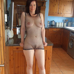 Fishnet And Heels - Big Tits, Brunette, High Heels Amateurs