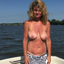 4th Of July On The Water - Big Tits, Outdoors