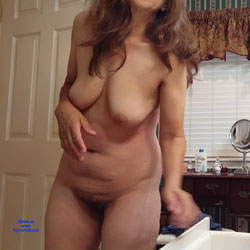 Ready For Shower  - Big Tits, Brunette