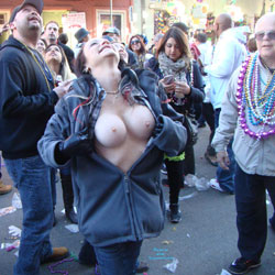 Mardi Gras 2016 2 - Big Tits, Flashing, Public Exhibitionist, Public Place