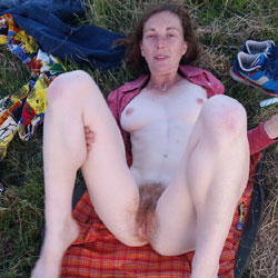 Karen Redhead Amateur - Blowjob, Outdoors, Redhead, Bush Or Hairy