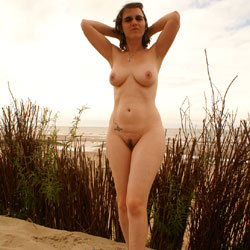 At Beach - Beach, Big Tits, Brunette, Bush Or Hairy