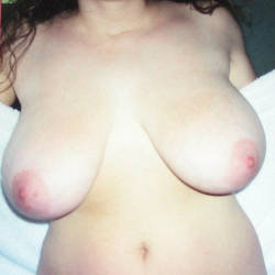 Extremely large tits of my ex-girlfriend - June
