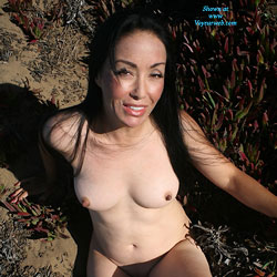 Pacific Ocean Cliffside Sun - Big Tits, Brunette, Shaved