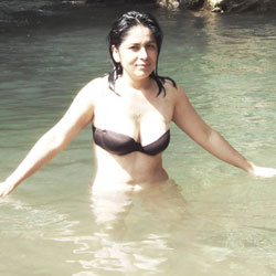 Katty In Lake - Big Tits, Brunette, Nature