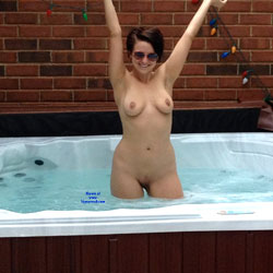Naked Brunette Inside A Jacuzzi - Big Tits, Brunette Hair, Firm Tits, Full Frontal Nudity, Full Nude, Nipples, Shaved Pussy, Water, Wet, Sexy Figure, Sexy Girl, Sexy Legs