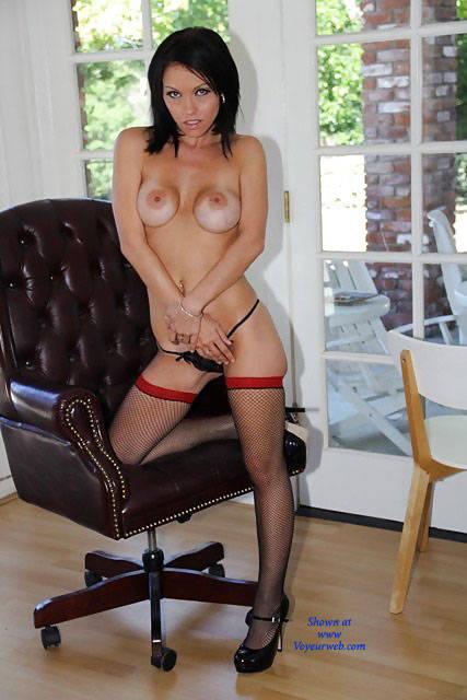Pic #1 - Belle In Heels - Big Tits, Brunette Hair, Heels, Sexy Lingerie , Naked, Horny, Brunette, Babes