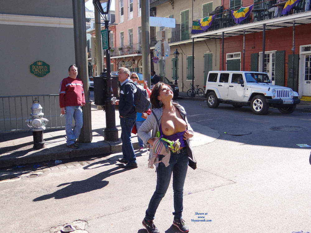 Pic #1 - Madri Gras Part 3 - Big Tits, Exposed In Public, Flashing, Nude In Public , Had A Great Time In NOLA. Mardi Gras 2016 Had Some Really Nice Ladies Flashing. Sorry These Are Posted Like 6 Months Late. If Everyone Likes I May Post A Lot More Pictures I Have Taken. Enjoy