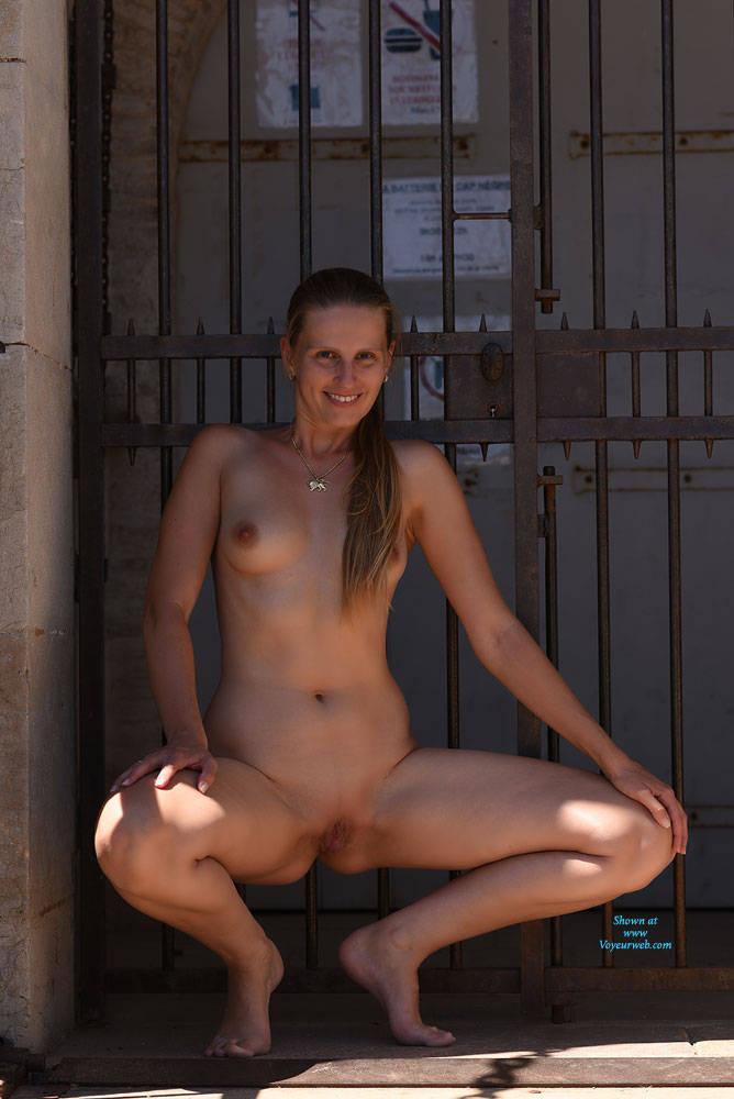 Pic #9 Bri At Cap Negre - Big Tits, Public Exhibitionist, Public Place, Shaved