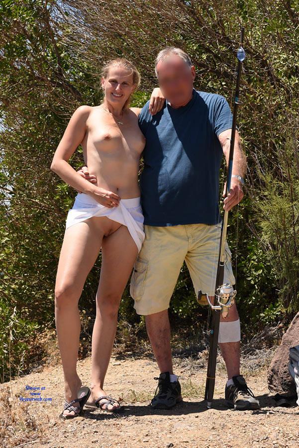 Pic #6 Bri At Cap Negre - Big Tits, Public Exhibitionist, Public Place, Shaved