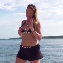 Fun On The Boat - Big Tits, Nude Outdoors, Shaved