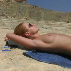 One Hot Polish Lady Sunbathing - Beach Voyeur