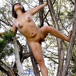 Naked Tree Climb - Brunette, Nature
