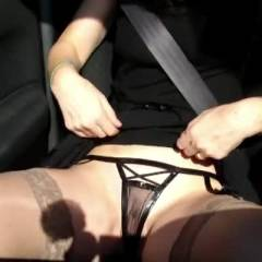 Real Female Orgasm In Autoroute - Masturbation, Wife/Wives