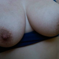 Very large tits of my room mate - purple p