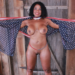 Naked Raven In Red Heels - Big Tits, Heels, Huge Tits, Nude In Public, Shaved Pussy, Short Hair, Sexy Legs, Blowjob, Cumshot, Ebony, Interracial, Facials