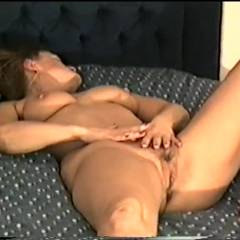 Yvonne Naked On Her Bed - Big Tits, Brunette, Firm Ass, High Heels Amateurs, Bush Or Hairy
