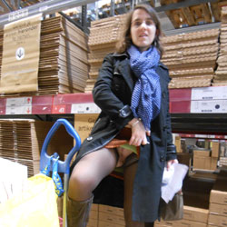 Flash Pussy In Swedish Shopping - Flashing, Public Exhibitionist, Public Place