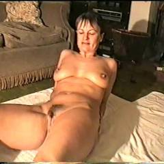 Yvonne Oils Her Naked Body - Big Tits, Brunette, Wife/Wives, Bush Or Hairy