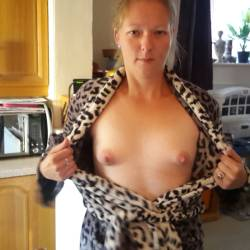 Small tits of my girlfriend - my milf