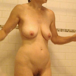 Sandy's Shower Time - Big Tits, Bush Or Hairy