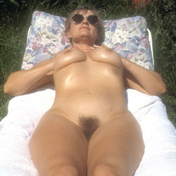 Yvonne Naked In The Garden 2 - Big Tits, Hard Nipples, Bush Or Hairy