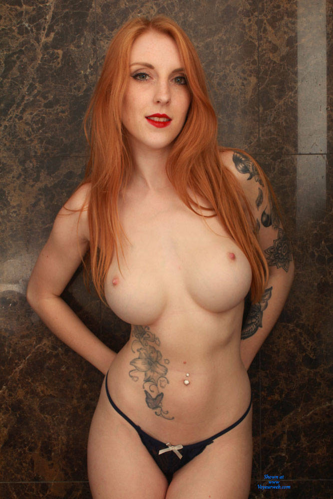 Big tits red hair