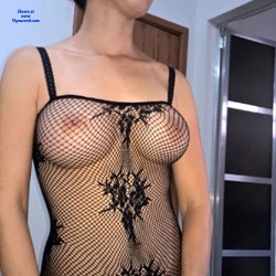 Fishnet Fun - Big Tits, Lingerie