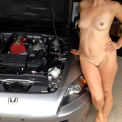 Car Flashing - Hard Nipples, Wife/Wives