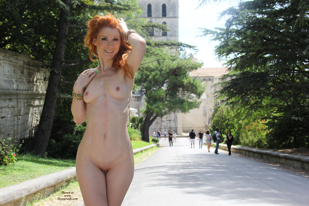 Vienna - French Holidays - Exposed In Public, Flashing, Nude In Public, Redhead, Sexy Ass , Nude In Public, European Babes, Sexy, Flashing Nude