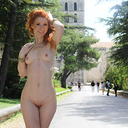 Redhead Vienna Naked In Public - Exposed In Public, Flashing, Nipples, Nude In Public, Perfect Tits, Redhead, Shaved Pussy, Sexy Body, Sexy Legs
