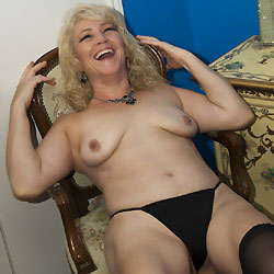Hot MILF At Home - Medium Tits, Blonde, MILF