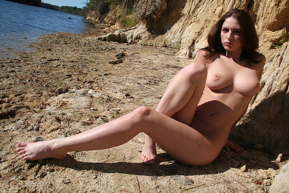Pic #6 Riverside Beach - Big Tits, Brunette