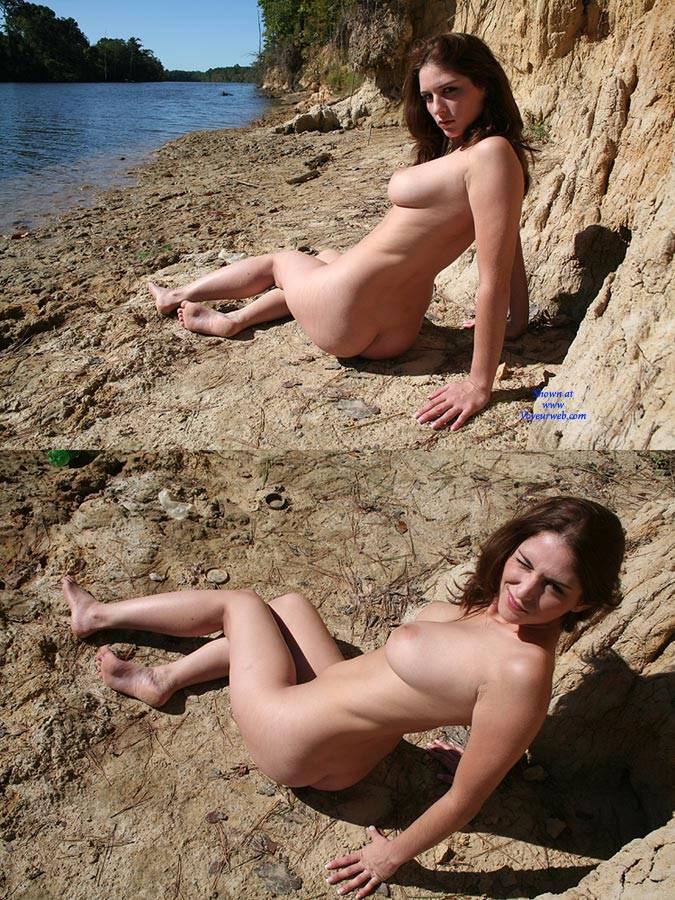 Pic #8 Riverside Beach - Big Tits, Brunette