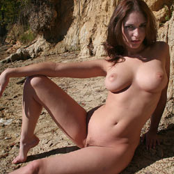 Naked Brunette At Riverside - Big Tits, Brunette Hair, Hairy Bush, Naked Outdoors, Nipples, Nude In Nature, Nude Outdoors, Perfect Tits, Naked Girl, Sexy Body, Sexy Girl, Sexy Legs