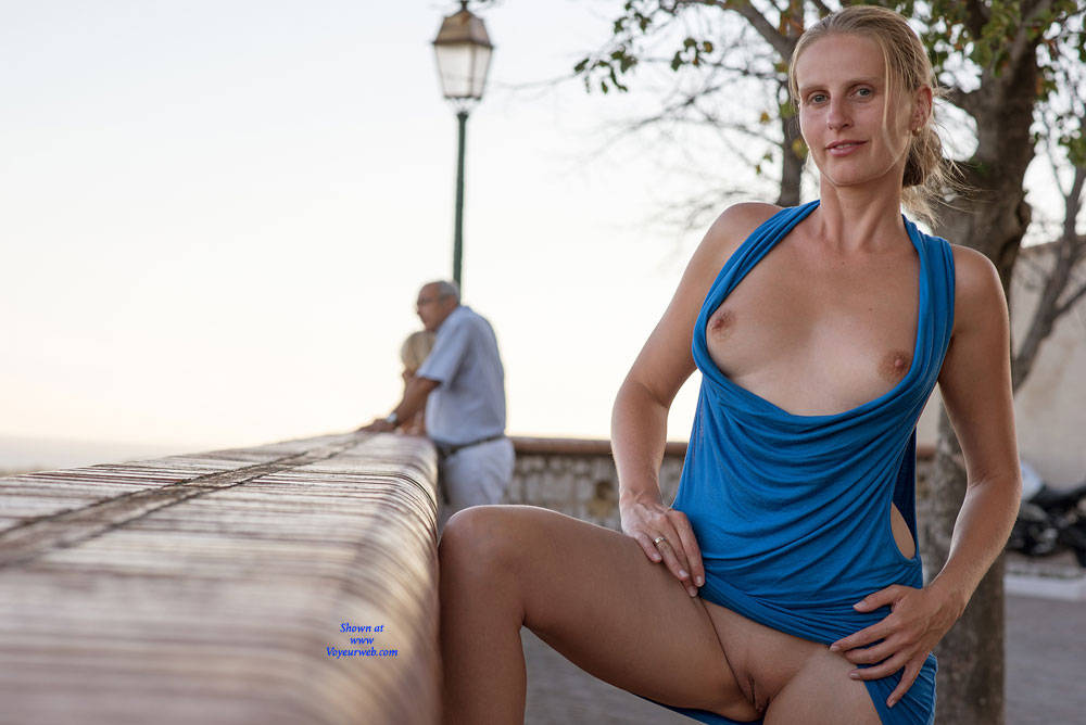 Pic #8 Bri NIP In France - Flashing, Public Exhibitionist, Public Place, Shaved
