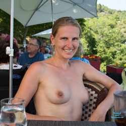 Naked Blonde Wife In Public - Big Tits, Blonde Hair, Exposed In Public, Flashing, Nipples, Nude In Public, Perfect Tits, Nude Wife, Sexy Wife